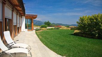 Grande giardino privato sulla collina