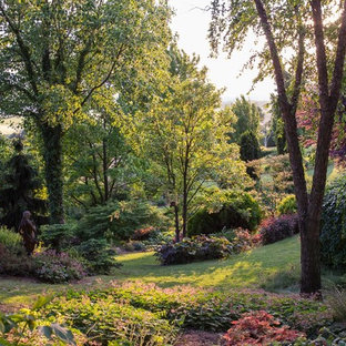 Ispirazione per un ampio giardino in campagna