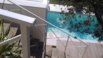 Piscina e giardino di villa e B&B Le Palme
