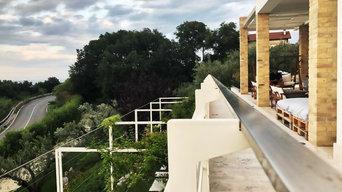 Realizzazione aree esterne attrezzate a verde con piscina in residenza privata