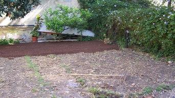 Realizzazione giardino.
