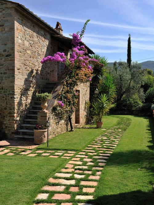 Foto e idee per esterni esterni in campagna for Portico laterale in stile casa in stile charleston