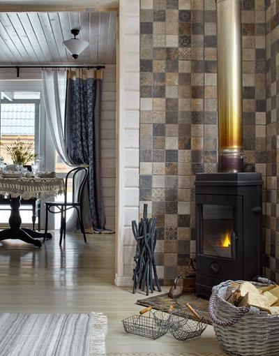 Farmhouse Living Room by Lavka-Design