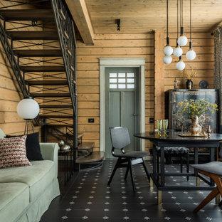 Неиссякаемый источник вдохновения для домашнего уюта: гостиная комната в стиле рустика