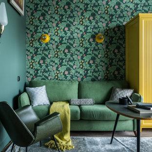 Пример оригинального дизайна: гостиная комната в классическом стиле