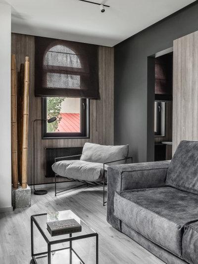 Современный Гостиная by Архитектурная студия QUADRUM
