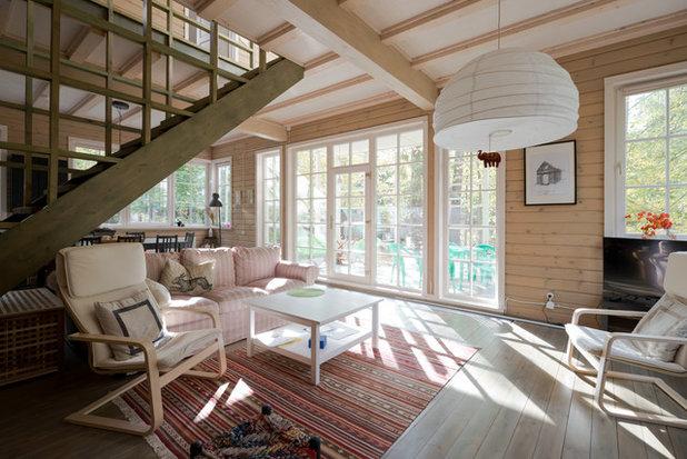 カントリー 居間 by Asse Architects // Архитекторы асс