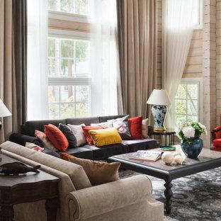 Свежая идея для дизайна: гостиная комната в классическом стиле - отличное фото интерьера