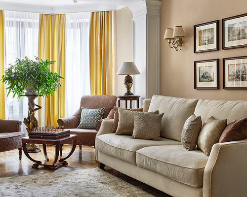 Inspiration for a transitional enclosed living room remodel in Moscow with  beige walls and carpetLiving Room Carpet Ideas   Houzz. Living Room Design Ideas With Carpet. Home Design Ideas