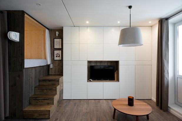 Modern Wohnbereich by Studio Bazi