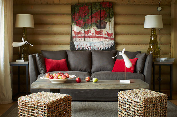 Rustic Living Room by IN-DECO