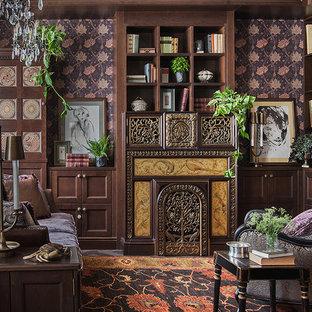 Идея дизайна: гостиная комната в викторианском стиле