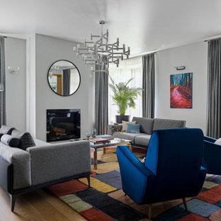 Пример оригинального дизайна: гостиная комната в современном стиле