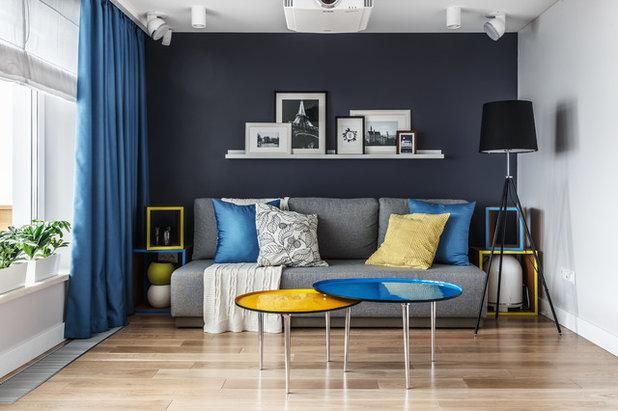 Contemporary Living Room by Алексей Иванов и Павел Герасимов|Geometrium design
