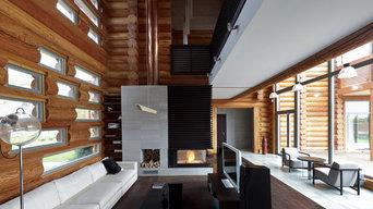 Интерьер деревянного жилого дома