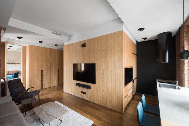 Современный Гостиная by Gikalo Kuptsov Architects