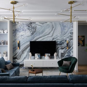 Изысканный интерьер трехкомнатной квартиры