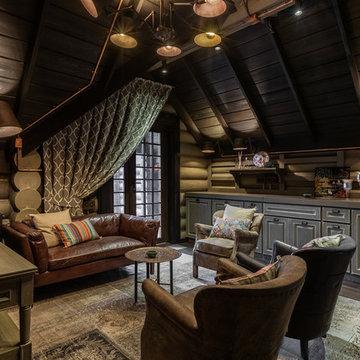 Комната отдыха в стиле шале