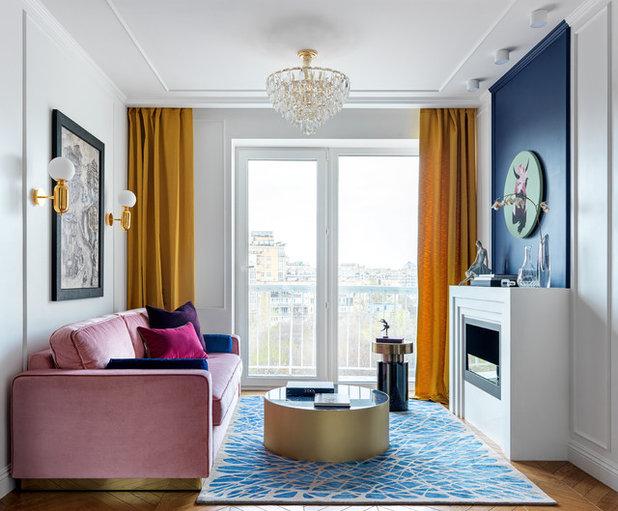 Современный Гостиная by Mezentseva Interiors