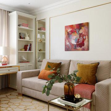 Квартира 125м2 | GOLD ACCENT | Неоклассика и модерн с латунными акцентами