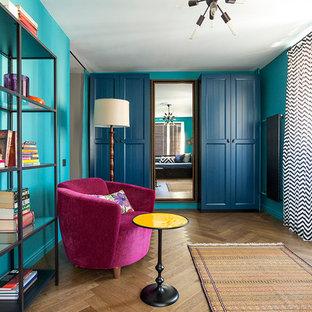 Eklektisches Wohnzimmer in Moskau