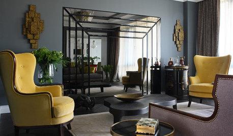 Houzz тур: Интерьер квартиры на Новом Арбате в рамках ар деко