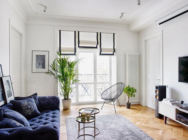 Eclectic Living Room by Anna Kolpakova-Sanasaryan