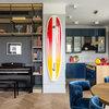Houzz тур: Яркая квартира — под цвет доски для серфинга