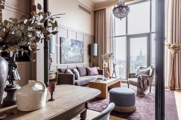 Фьюжн Гостиная by OLGA IEVLEVA Interior design & decoration