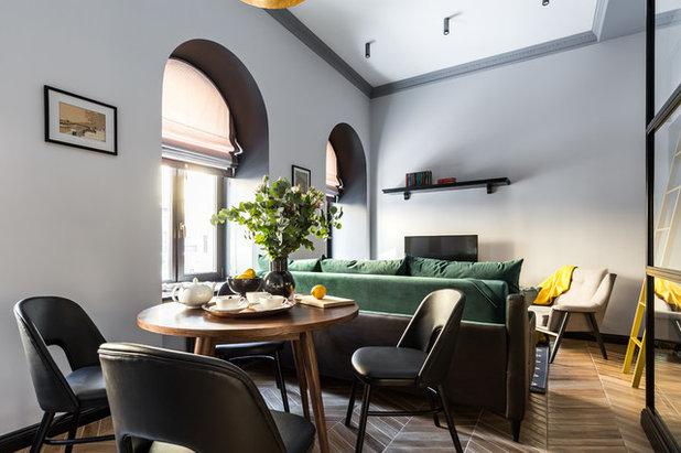 Transitional Living Room by Интерьерная студия AI