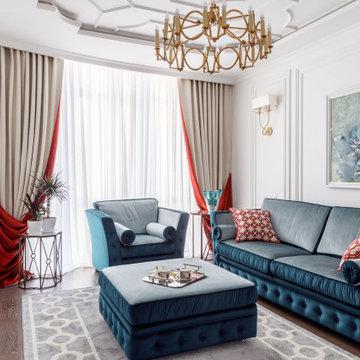Квартира на ул. Кондратенко, гостиная