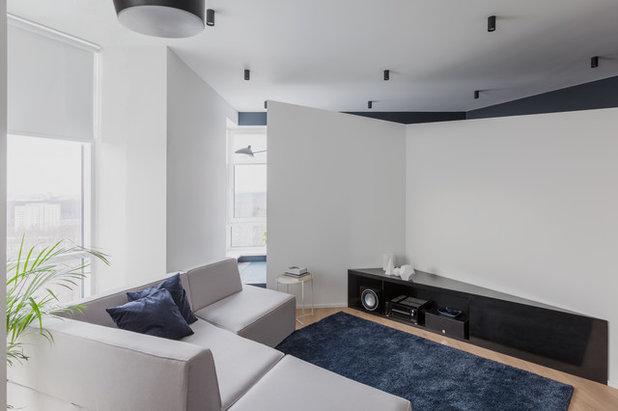 Современный Гостиная by SHKAF interior architects