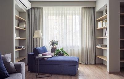 Houzz тур: Квартира с книжными полками и функциональными коридорами