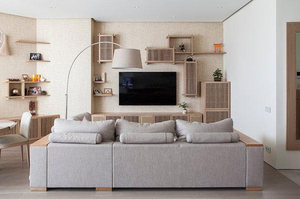 コンテンポラリー リビング by Ariana Ahmad Interior Design
