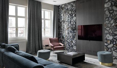 Houzz тур: Квартира с агатами на стенах