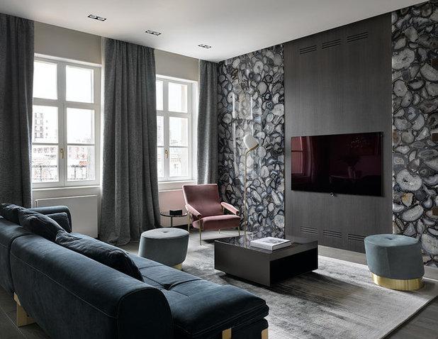 Современный Семейная комната by Ariana Ahmad Interior Design