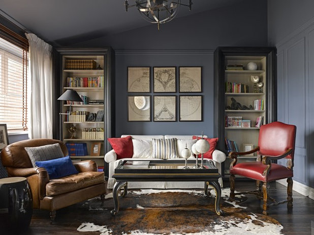 American Traditional Living Room by ChDecoration