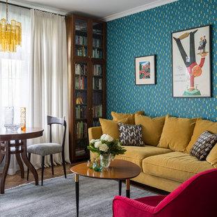 Immagine di un soggiorno shabby-chic style
