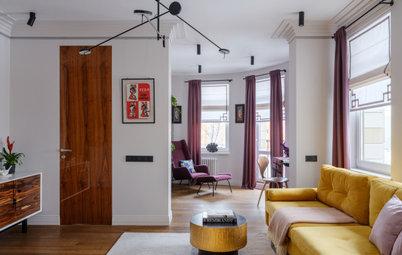 Houzz тур: Квартира с радиусной стеной и невысокими потолками