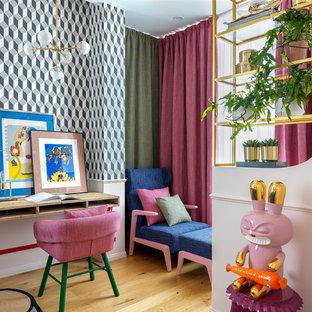 Modernes Wohnzimmer in Moskau