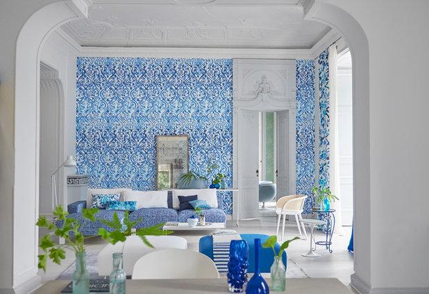 Coastal Family Room by Manders