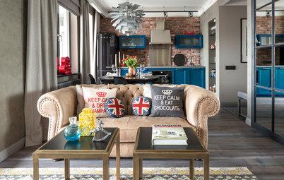 Houzz тур: Квартира с испанской мебелью и винтажными постерами