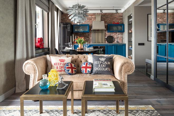 Industrial Living Room by Женя Жданова