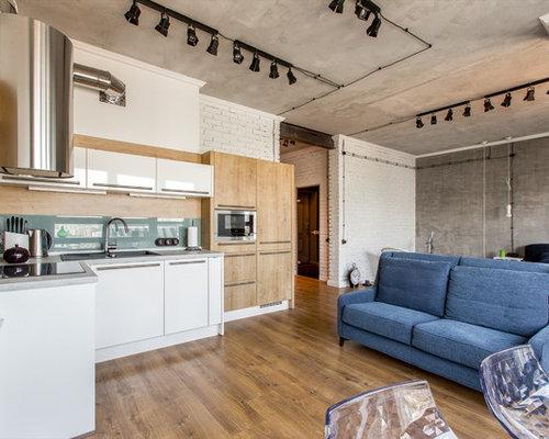 Küchen mit grauer küchenrückwand und laminat arbeitsplatte ideen ...