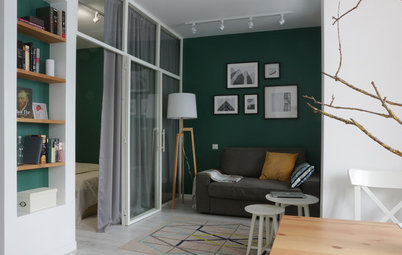 Houzz Tour: A Clever Design Turns a Studio into a One-bed Flat