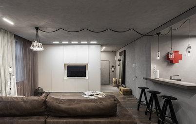 Houzz тур: Квартира-студия на Остоженке в серых тонах