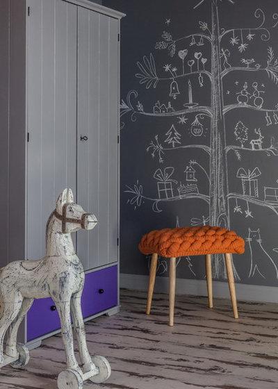 Contemporary Family Room by Ксения Бобрикова. Xenia Design Studio