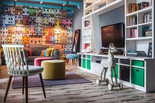 Фьюжн Семейная комната by Ксения Бобрикова. Xenia Design Studio