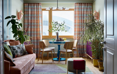 Houzz Tour: A Riot of Colour & Retro Touches in a Small Flat