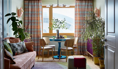 Houzz Tour: A Riot of Colour With Retro Touches in a Small Flat